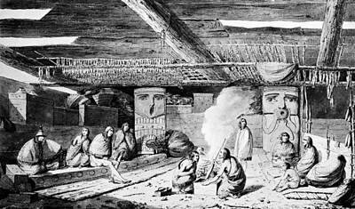 Nootka Sound Painting - Nootka Dwelling, 1778 by Granger
