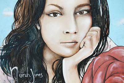 Norah Jones Mural II Art Print by Lorri Crossno