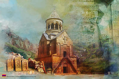 Monastery Painting - Noravank Church by Catf