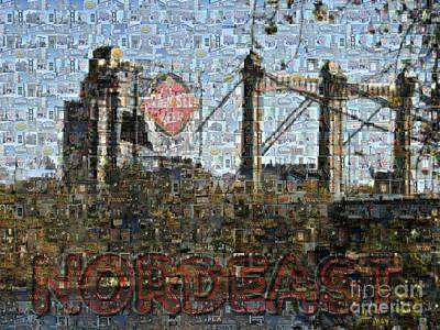 Twin Cities Digital Art - Nordeast Mosaic by Laura Toth