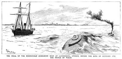 Nordenfelt Submarine, 1885 Art Print by Granger
