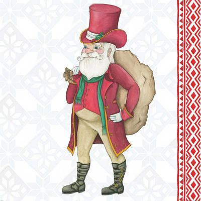 Santa Claus Painting - Nordic Santa by Elyse Deneige