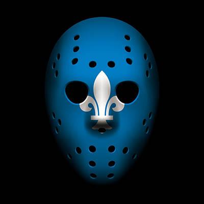 Quebec Photograph - Nordiques Goalie Mask by Joe Hamilton