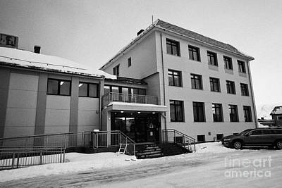 Nordkapp Kommune North Cape Council Offices Honningsvag Finnmark Norway Europe Art Print by Joe Fox