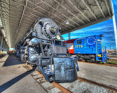 7 Train Photograph - Norfolk And Western 1218 And 1776 by Greg Hager