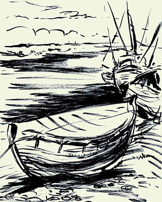 Norfolk Crab Boat Art Print by William Rowsell