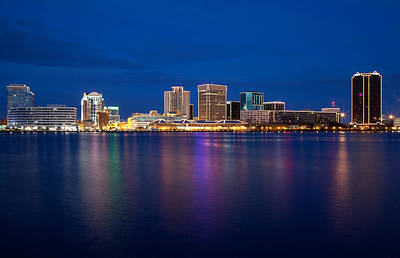 Photograph - Norfolk Skyline At Dusk by Melinda Fawver