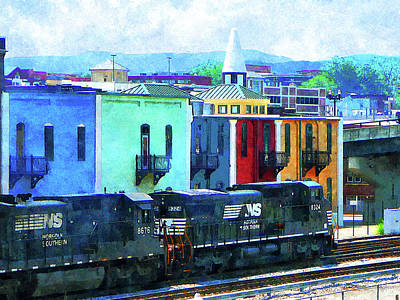 Norfolk Southern 8324 And 8676 Locomotives Art Print