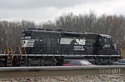 Locamotive Photograph - Norfolk Southern Engine 3237 #1 by J M Lister