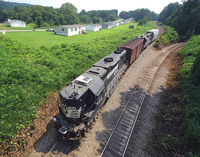 Photograph - Norfolk Southern Extension Cord Line by Joseph C Hinson Photography