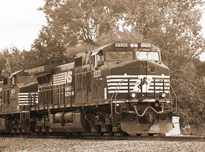 Photograph - Norfolk Southern Freight Train by Melinda Fawver