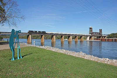Photograph - Norfolk Southern Over The Tennessee River by Joseph C Hinson Photography