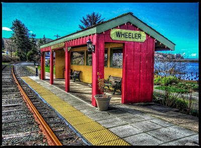 Art Print featuring the photograph Norm Laknes Train Station by Thom Zehrfeld