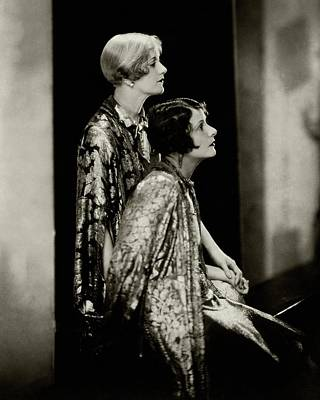 Norma And Constance Talmadge Art Print by Edward Steichen