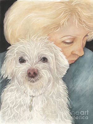 Painting - Norma And Mr. Trouble by Nan Wright