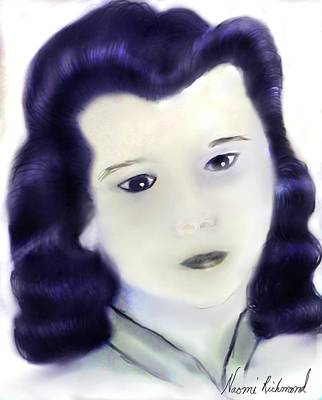 Confident Drawing - Norma Jean 1946 by Naomi Richmond