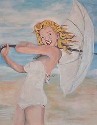 Norma Jean At The Beach Original by Joanna Maria Morales Miarrostami