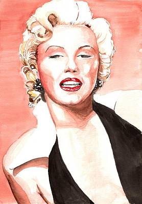 Painting - Norma Jeane Baker by Martin Williams