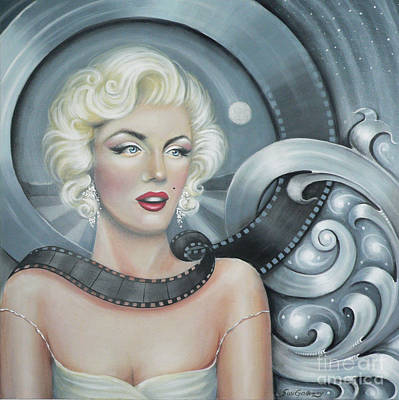 Marylin Painting - Norma Jean's Dream by S G