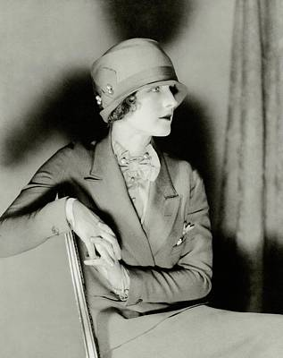 Cloche Photograph - Norma Shearer Wearing A Cloche Hat by Charles Sheeler