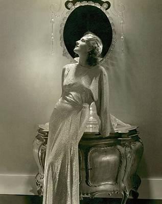 Norma Shearer Wearing A Lame Dress Art Print