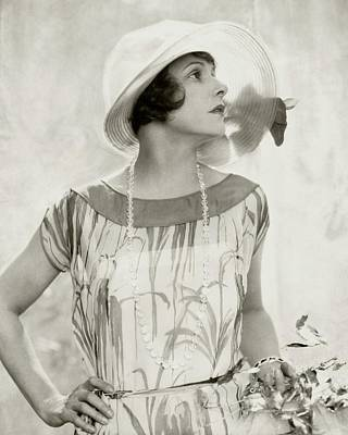 Norma Talmadge Wearing A Hat And Dress Art Print by Edward Steichen