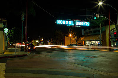 Normal Heights Neon Art Print by John Daly