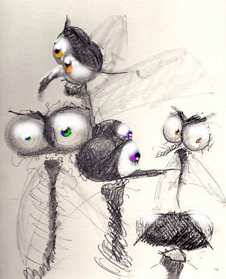 Buy Drawing - Normal People by Marcello Cicchini