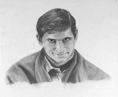 Films By Alfred Hitchcock Drawing - Norman Bates Portrait by M Oliveira
