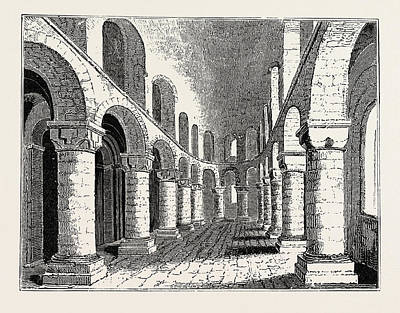 Tower Of London Drawing - Norman Chapel In The White Tower Tower Of London by English School
