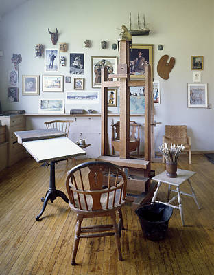 Digital Art - Norman Rockwell Studio by Carol Highsmith