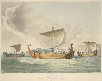 Normans Photograph - Norman Ships by British Library