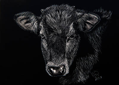 Brown Swiss Painting - Norman by Sydne Spencer