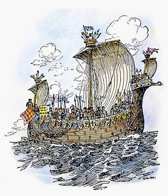 Norman Warship, 1066 Art Print by Granger