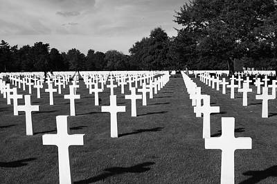 Photograph - Second World War Cemetery by Aidan Moran
