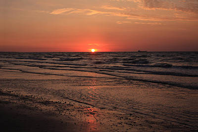 Photograph - Normandy Beach At Sunset by Aidan Moran