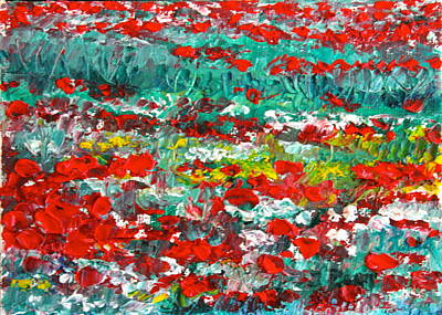 Painting - Normandy Poppy Field Dreams I by Tracey Peer