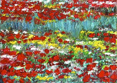 Painting - Normandy Poppy Field Dreams  II by Tracey Peer