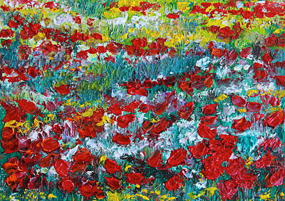 Painting - Normandy Poppy Field Dreams IIi by Tracey Peer