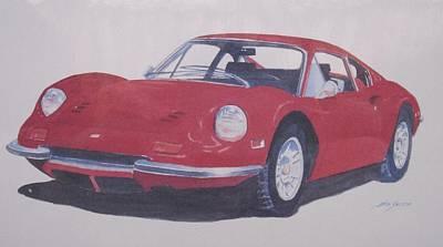 Painting - Norm's Ferrari by John  Svenson