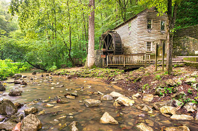 Old Mills Photograph - Norris Dam Grist Mill - Tennessee by Gregory Ballos