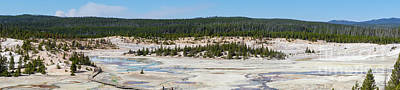 Photograph - Norris Geyser Basin Panoramic by Jennifer White