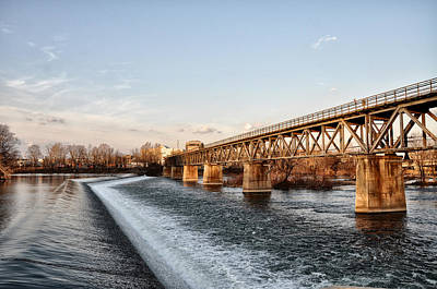 Norristown Dam And Railroad Bridge Art Print