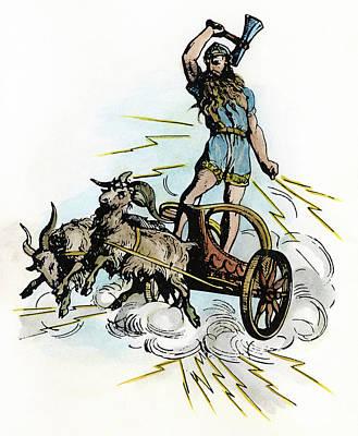 Norse Mythology Thor Art Print by Granger