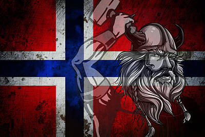 Norsemen Digital Art - Norsemen by Daniel Hagerman