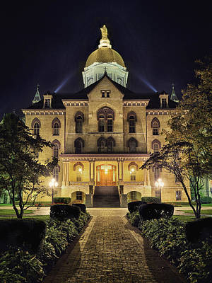 Photograph - Norte Dame Golden Dome by Dennis James