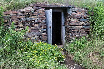 Cellar Photograph - North America, Canada, Nl, Root Cellar by Patrick J. Wall