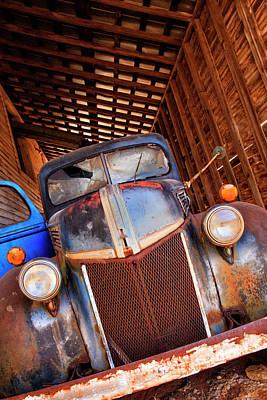 Rusty Truck Photograph - North America, Usa, Georgia, Old Rusty by Joanne Wells
