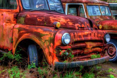 Rusty Truck Photograph - North America, Usa, Georgia, Rusty by Joanne Wells