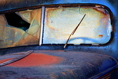 Rusty Truck Photograph - North America Usa Georgia Windshield by Joanne Wells